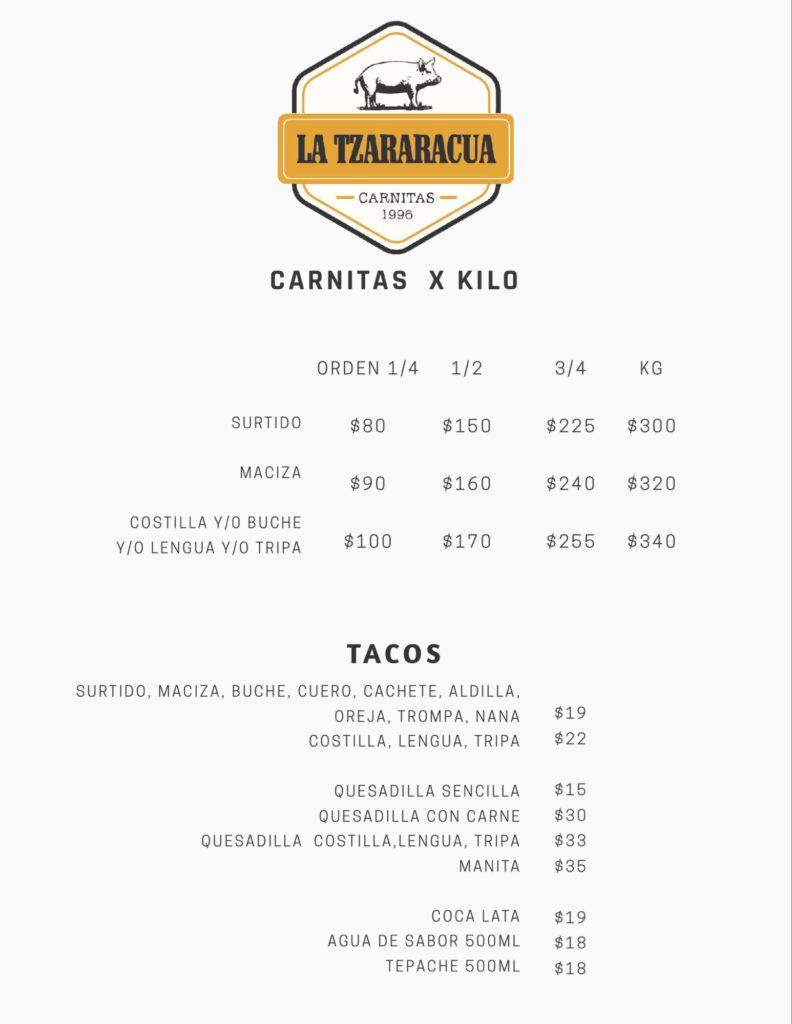 Carnitas La Tzaráracua Tijuana Sabor para llevar